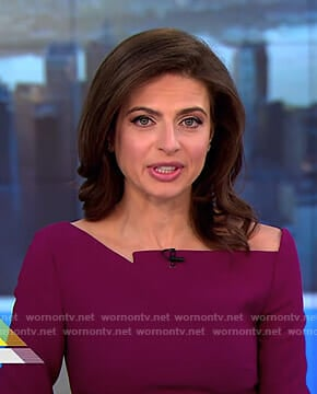 Bianna's purple asymmetric top on CBS This Morning