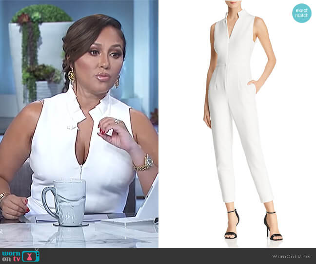 Antoinette Jumpsuit by Black Halo worn by Adrienne Houghton  on The Real
