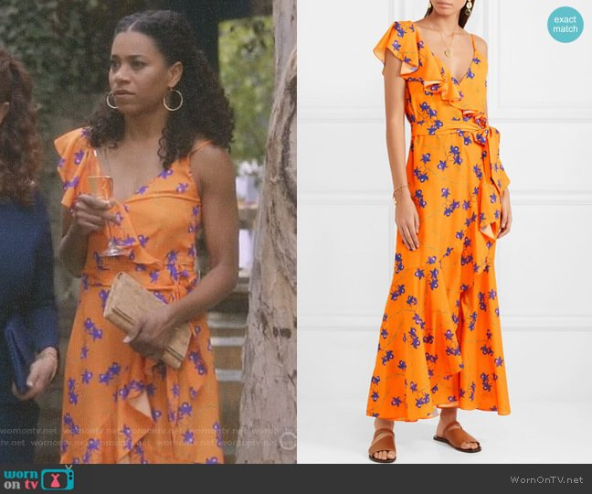 'Isadora' Maxi Dress by Borgo de Nor worn by Maggie Pierce (Kelly McCreary) on Greys Anatomy