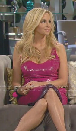 Camille's pink sequined dress on The Real Housewives of Beverly Hills