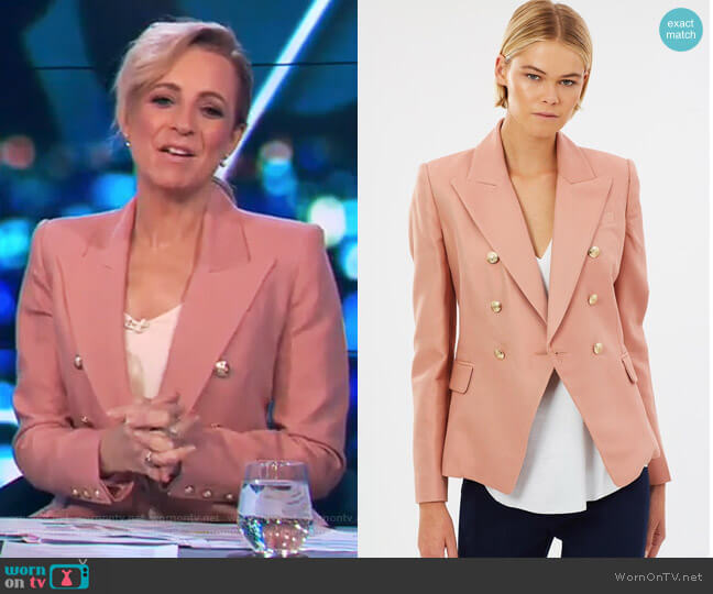 Dimmer Blazer by Camilla and Marc worn by Carrie Bickmore on The Project