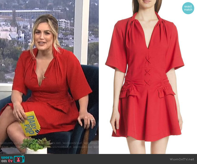 Robe Courte Lace-Up Dress by Carven worn by Carissa Loethen Culiner on E! News
