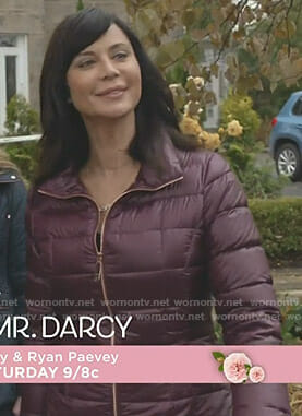 Cassie's burgundy down jacket on Good Witch