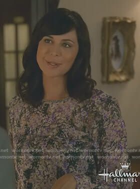 Cassie's purple floral ruffled dress on Good Witch