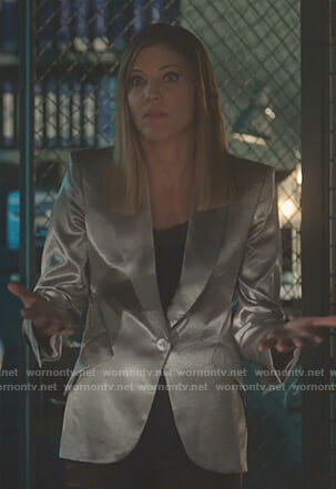 Charlotte's metallic blazer on Lucifer