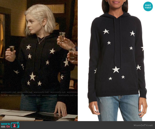 Chinti & Parker Star Cashmere Hoodie worn by Liv Moore (Rose McIver) on iZombie