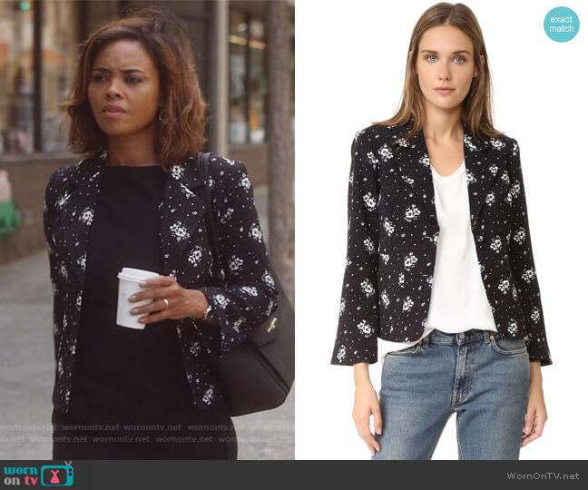 Stardust Onyx Blazer by Cinq a Sept worn by Jasmine Gooden (Sharon Leal) on Instinct