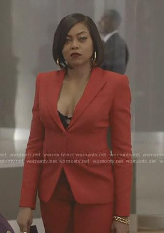 Tiana's pink metallic puffer jacket on Empire