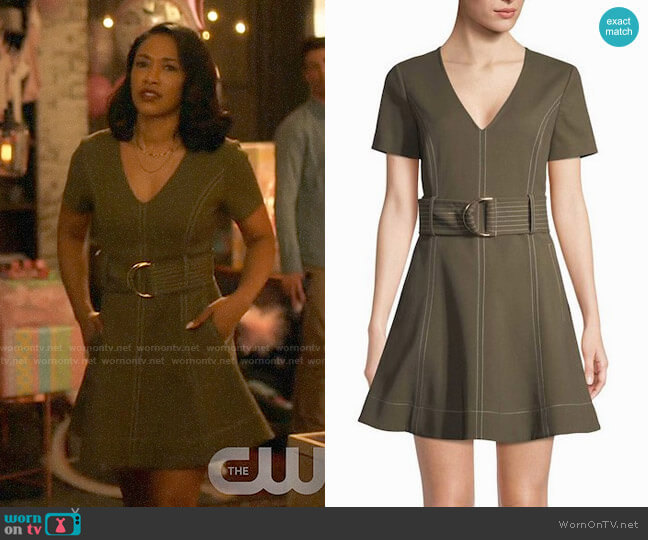 Diane von Furstenberg Belted Fit & Flare Dress worn by Candice Patton on The Flash