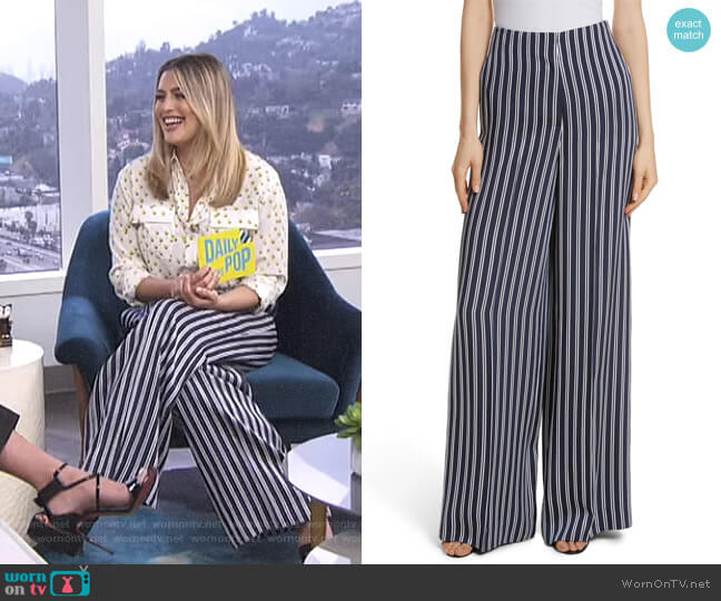 Stripe Palazzo Pants by Diane von Furstenberg worn by Carissa Loethen Culiner  on E! News