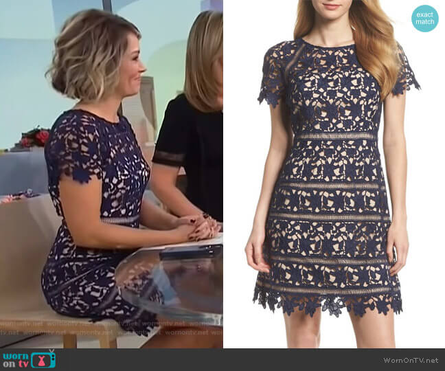 Crochet Overlay Dress by Eliza J worn by Dylan Dreyer (Dylan Dreyer) on Today