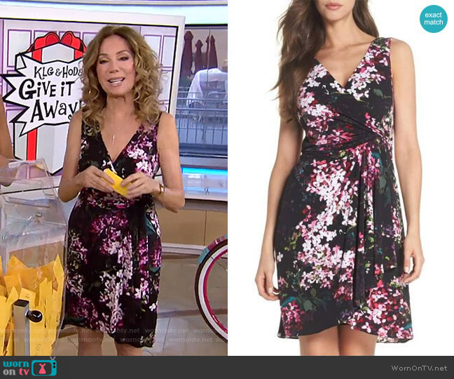 Floral Print Twist Front Dress by Adrianna Papell worn by Kathie Lee Gifford (Kathie Lee Gifford) on Today