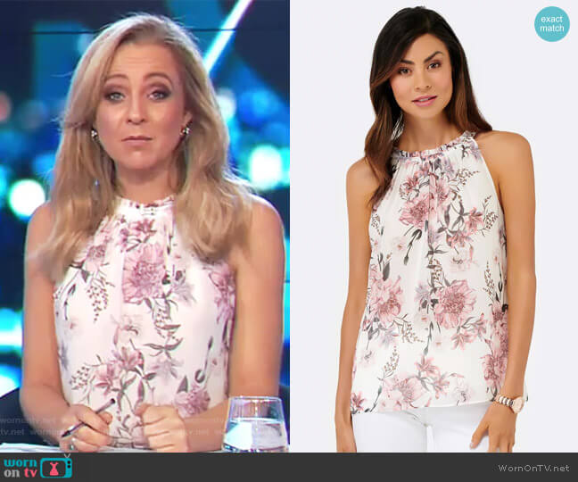 Chloe Gathered Neckline Cami by Forever New worn by Carrie Bickmore on The Project