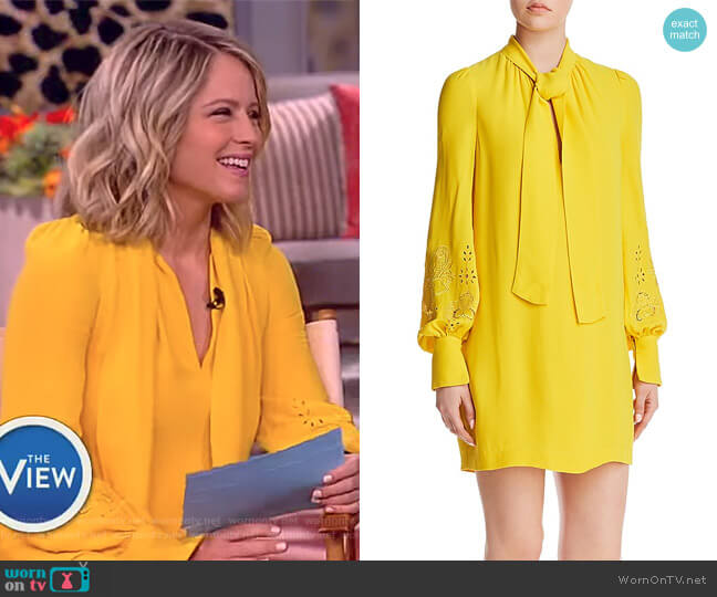 Pussybow Dress by French Connection worn by Sara Haines on The View