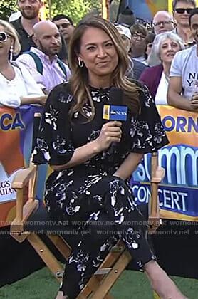 Ginger's black floral jumpsuit on Good Morning America