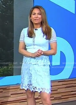 Ginger's light blue lace dress on Good Morning America