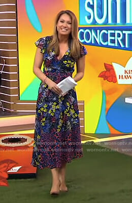 Ginger's mixed print midi dress on Good Morning America