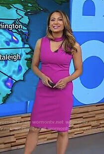 Ginger's pink choker neck dress on Good Morning America