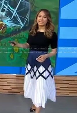 Ginger's printed midi skirt on Good Morning America