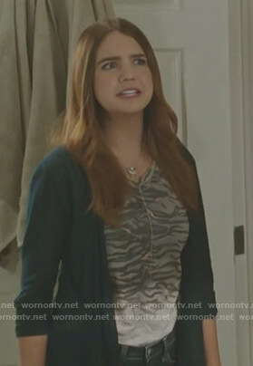 Grace's grey tiger print top on Good Witch