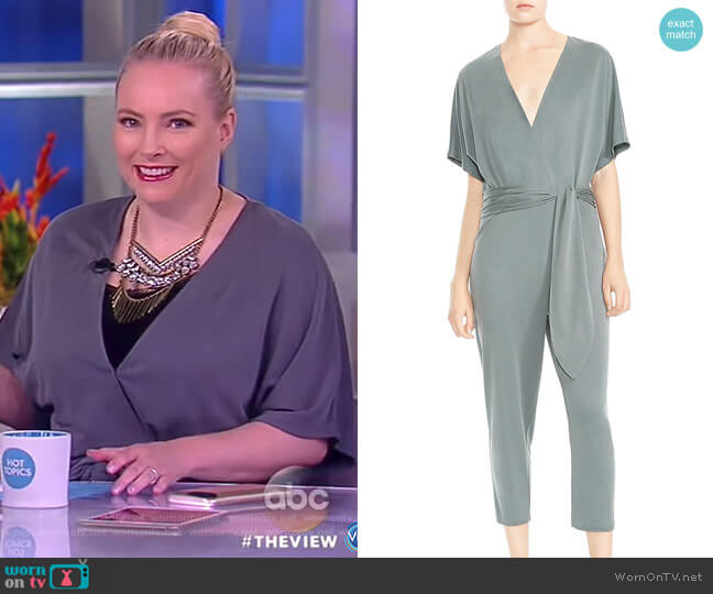 Cropped V-neck Jumpsuit by Halston Heritage worn by Meghan McCain  on The View