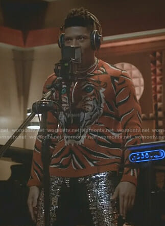 Hakeem's orange tiger sweater on Empire