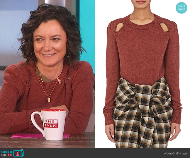 Klee Cutout Sweater by Isabel Marant Etoile worn by Sara Gilbert  on The Talk
