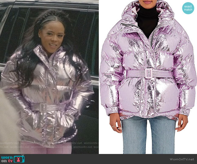 Tech-Fabric Down Puffer Coat by Ienki Ienki worn by Tiana Brown (Serayah McNeill) on Empire