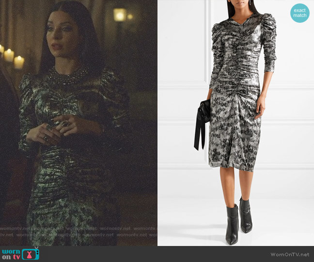 'Damia' Midi Dress by Isabel Marant worn by Lilith (Anna Hopkins) on Shadowhunters