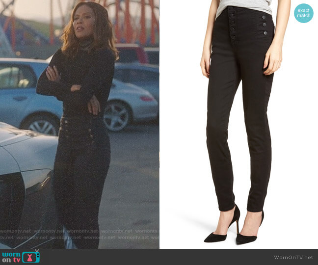 Natasha Photoready High Waist Skinny Jeans by J Brand worn by Lesley-Ann Brandt on Lucifer