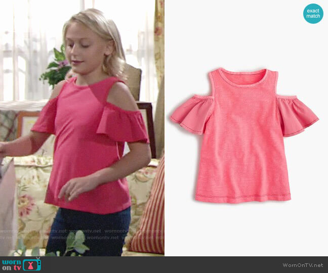 J. Crew Cold Shoulder Top worn by Faith Newman (Alyvia Alyn Lind) on The Young & the Restless