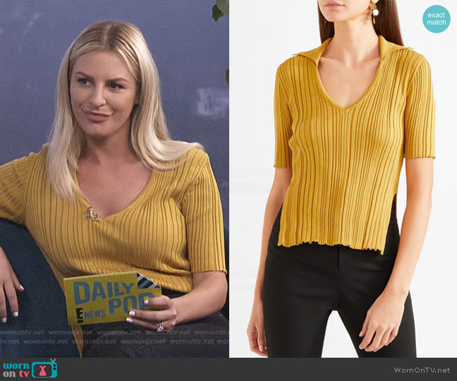 Marinheiro Ribbed Cotton Sweater by Jacquemus worn by Morgan Stewart  on E! News