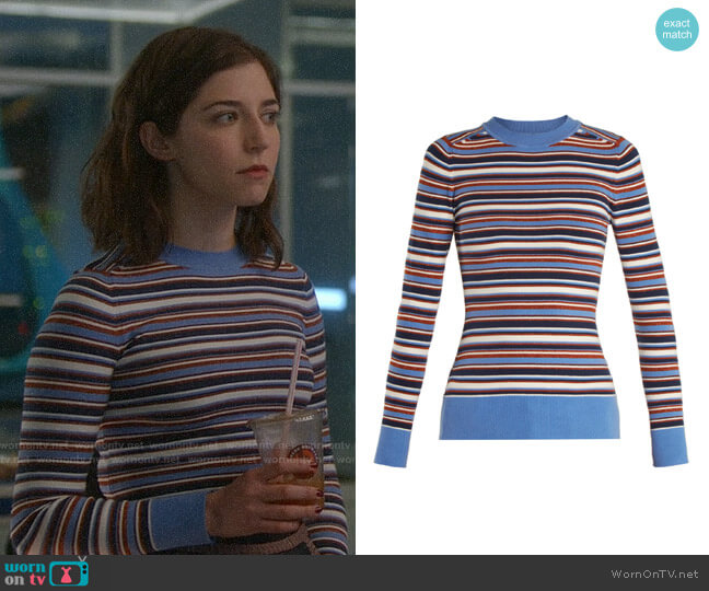 JoosTricot Crew-neck Knit Sweater worn by Annabelle Attanasio on Bull