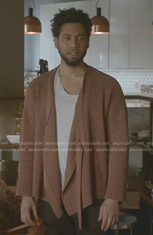 Jamal's brown wrap cardigan on Empire