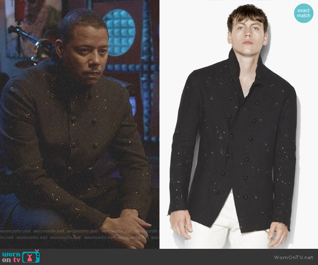 Paint Splatter Jacket by John Varvatos worn by Lucious Lyon (Terrence Howard) on Empire