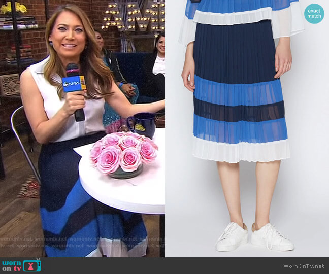 'Alpons' Skirt by Joie worn by Ginger Zee on Good Morning America