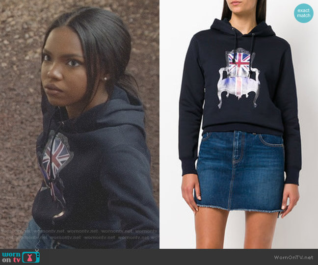Union Jack chair print hoody by Junya Watanabe worn by Alexandra Crane (Ryan Destiny) on Star