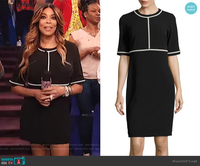 Embellished Sheath Dress by Karl Lagerfeld Paris worn by Wendy Williams  on The Wendy Williams Show