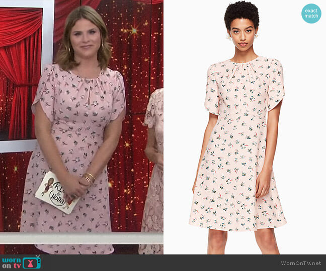 Flora Tulip Dress by Kate Spade worn by Jenna Bush Hager on Today