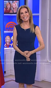 Kathie's navy bandage dress on Today