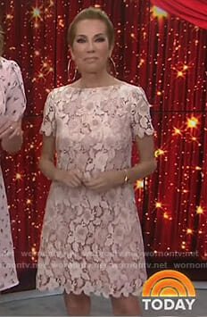 Kathie's pink floral lace dress on Today