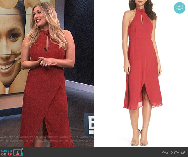 Skylines Halter Midi Dress by Keepsake worn by Carissa Loethen Culiner on E! News