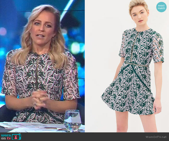 Wild Things Lace Dress by Keepsake worn by Carrie Bickmore on The Project