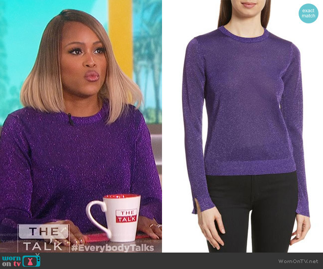 Metallic Knit Sweater by Kenzo worn by Eve  on The Talk