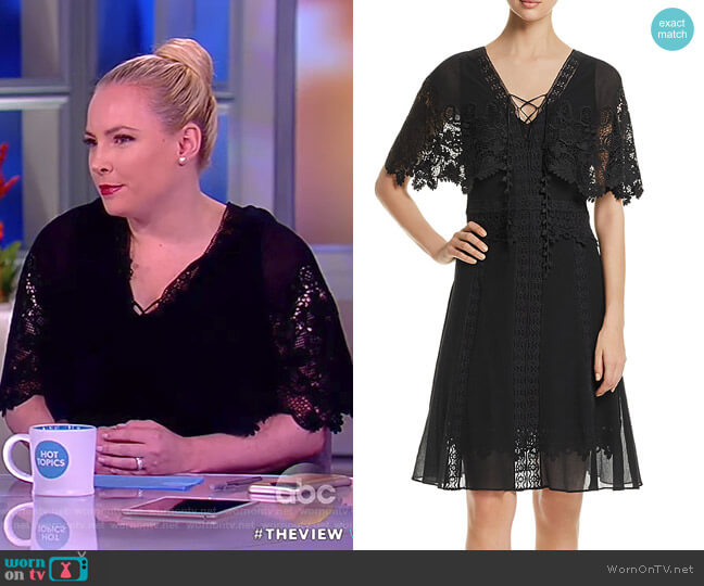 Giovanna Lace-Trim Dress by Kobi Halperin worn by Meghan McCain on The View