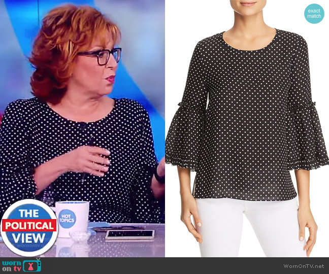 Kalea Polka-Dot Bell-Sleeve Blouse by Kobi Halperin worn by Joy Behar on The View