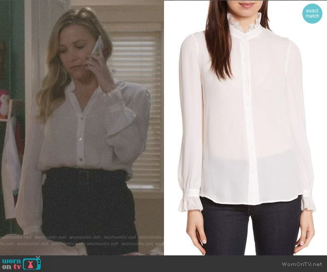 'Carla' Silk Blouse by L'Agence worn by Arizona Robbins (Jessica Capshaw) on Greys Anatomy