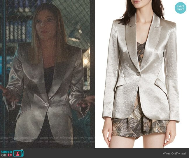 Lucifer Boo Normal: WornOnTV: Charlotte's Metallic Blazer On Lucifer