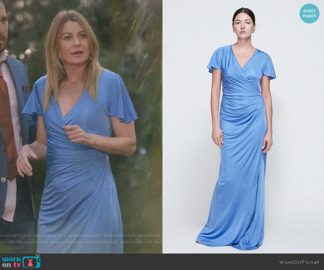 Long Ruched Dress by Lanvin worn by Ellen Pompeo on Greys Anatomy