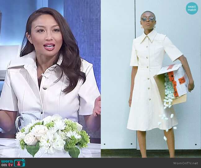 Livvi Dress by Loeil worn by Jeannie Mai  on The Real